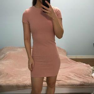 2/$35 FOREVER 21 Mauve Pink Ribbed Mini Dress